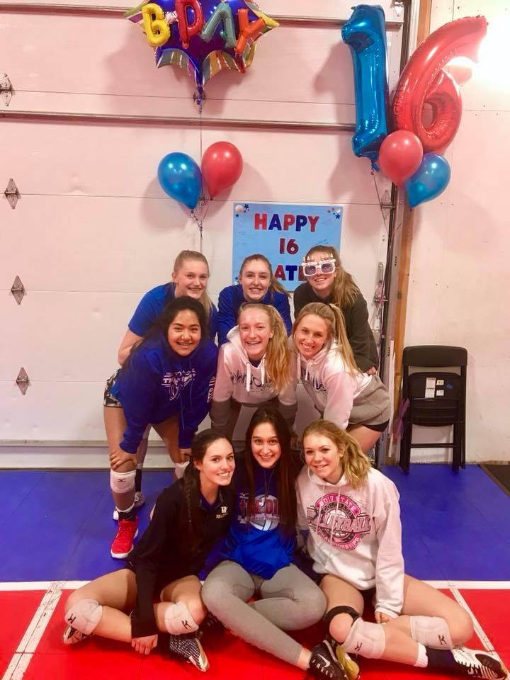 Sweet 16 Celebration at Practice